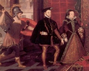 Philip II and his second wife, Mary (I) Tudor of England. Although he showed her deep respect in public and in their letters, in private was another matter.