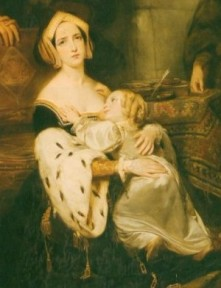 Anne Boleyn with child