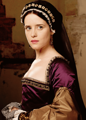 Anne Boleyn Wolf Hall Purple Dress