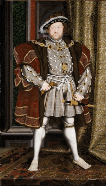 Henry VIII full body red and grey classic portrait