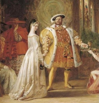 Anne Bboleyn and Henry VIII posthumous romantic painting